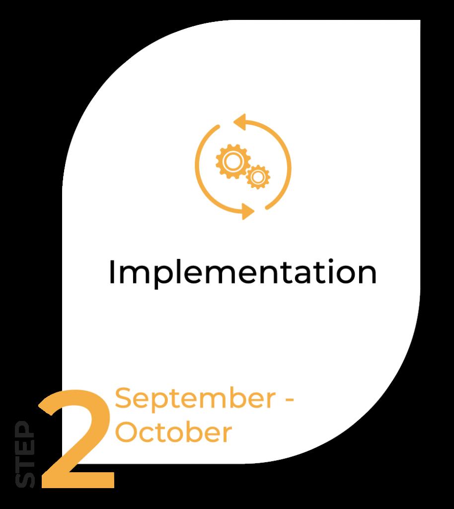 Image of Timeline step 2 - Implementation