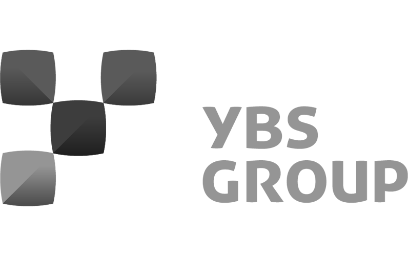YBS Group Logo in black & white