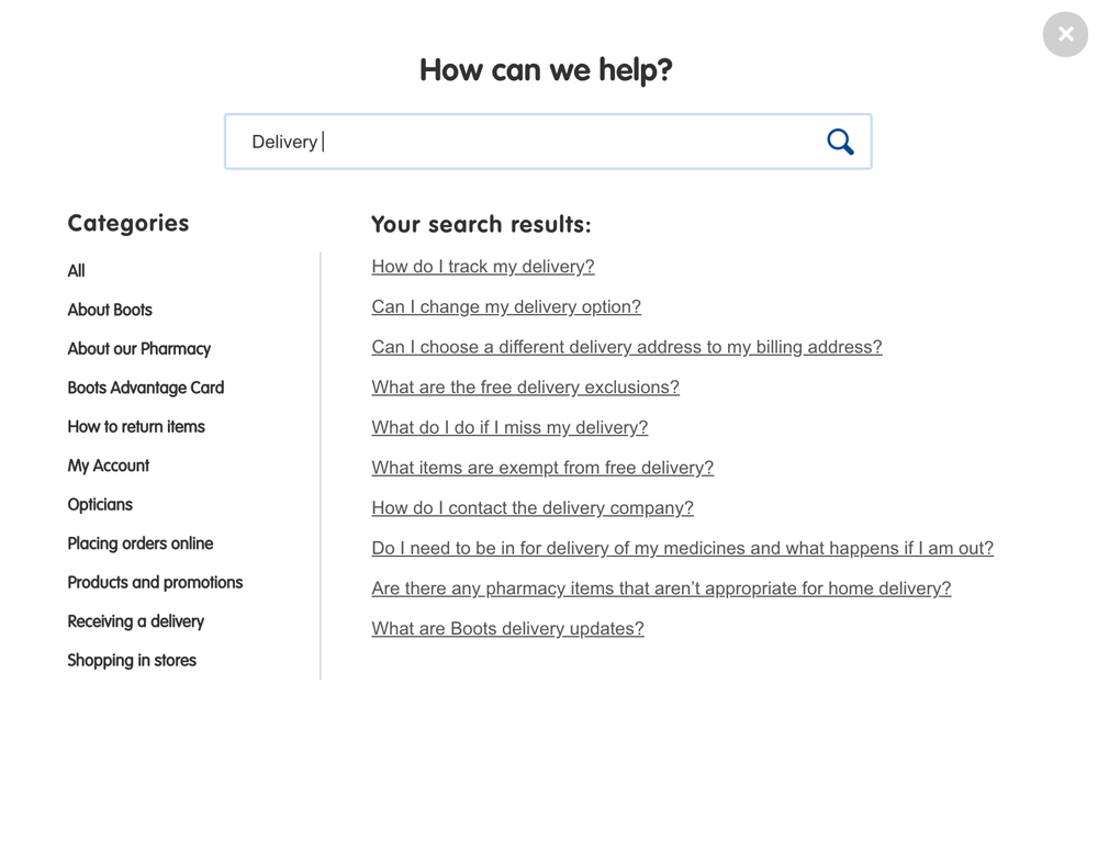 Knowledge Base search feature