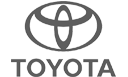 Black and White Toyota Logo