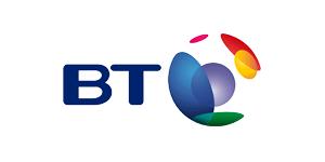 The logo for BT